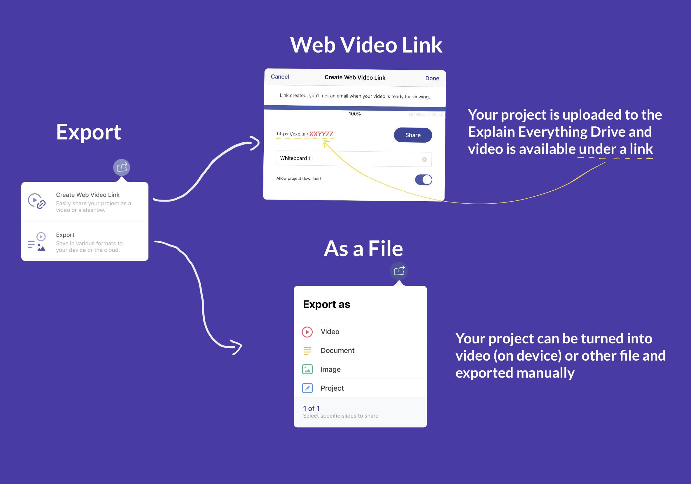 Share a recording – Explain Everything Help Center